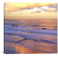 Coast - Longsands lone surfer , Canvas Print