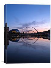 Bridges on the River Tyne, Canvas Print