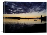 Oban to Mull sunset, Canvas Print