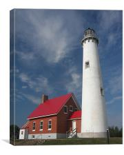 Tawas Point Lighthouse , Canvas Print