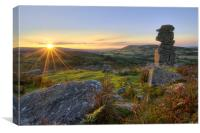 Dartmoor sunset , Canvas Print