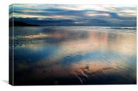 Dusk at Formby Point, Canvas Print