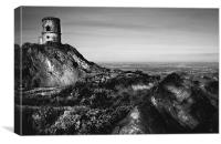 Mow Cop Folly, Canvas Print