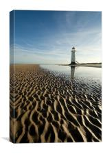 Point of Ayr, Canvas Print