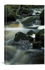 Babbling Burbage Brook, Canvas Print
