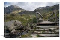 Tryfan and Foot Bridge, Canvas Print