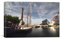 Liverpool Docks & Pumphouse, Canvas Print