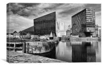 Liverpool Docks Waterfront, Canvas Print