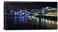 River Thames & Tower Bridge, Canvas Print