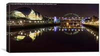 The Sage & Tyne Bridges, Canvas Print
