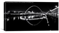 Tyne Bridges & The Sage, Canvas Print