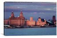 Three Graces of Liverpool, Canvas Print
