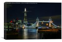 The Shard & Tower Bridge, Canvas Print