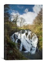 Swallow Falls Snowdonia, Canvas Print