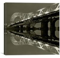 Runcorn Bridge, Canvas Print