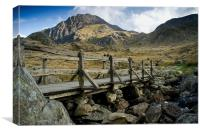 The Bridge to Tryfan, Canvas Print