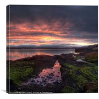 Kilchattan dawn, Canvas Print