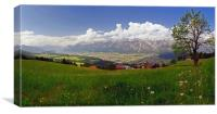 Innsbruck and the Nordkette, Canvas Print