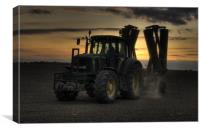 End of a Working Day on the Farm, Canvas Print