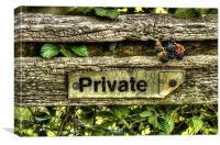 Private Wilderness, Canvas Print