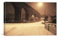Durham's Viaduct in Winter, Canvas Print
