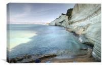 White Cliffs of Corfu, Canvas Print