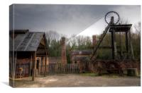Old Victorian Mine, Canvas Print
