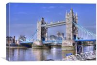 Tower Bridge with the GLA offices, Canvas Print