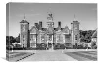 Blickling Hall bw, Canvas Print