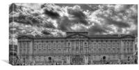 Buckingham Palace BW, Canvas Print