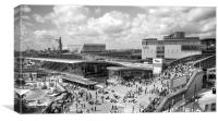 Westfield Shopping City BW, Canvas Print