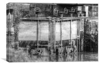 Tidal Lock Faversham Creek, Canvas Print