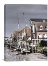 Faversham Creek and Thames Barges, Canvas Print