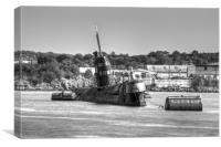 Rusty Russian BW, Canvas Print