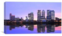 Docklands Canary Wharf sunset