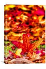 Autumn fractals leafs, Canvas Print