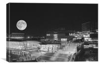 2012 Olympic park moon rise, Canvas Print