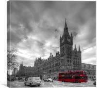 St Pancras Station BW, Canvas Print