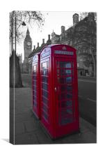 London Red Telephone box, Canvas Print