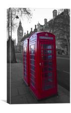 London Red Telephone box, Canvas Print