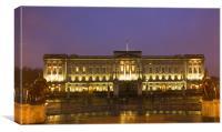 Buckingham Palace Night, Canvas Print