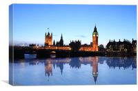 London Skyline reflections, Canvas Print