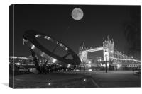 Tower Bridge Night, Canvas Print