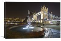 Tower Bridge Night, Canvas Print