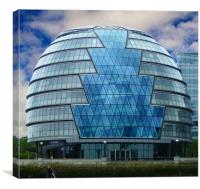 GLC offices on the Southbank, Canvas Print