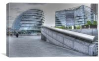 GLC offices on the Southbank London, Canvas Print