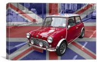 British Classic Mini car, Canvas Print