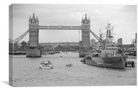Tower Bridge 2012 HMS Belfast, Canvas Print