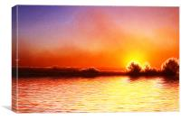 Cromer Sunrise Fractals, Canvas Print