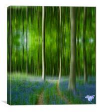 Blue Bell Art Digital art, Canvas Print